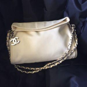 Chanel 2 way white shoulder bag